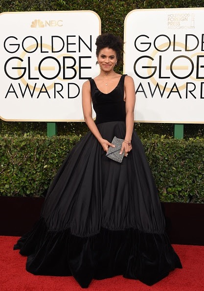 Actress Zazie Beetz arrives at the 74th annual Golden Globe Awards, January 8, 2017, at the Beverly Hilton Hotel in Beverly Hills, California. / AFP / VALERIE MACON (Photo credit should read VALERIE MACON/AFP/Getty Images)