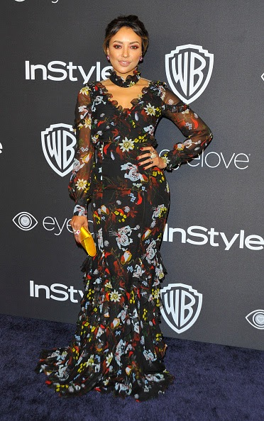 Actress Kat Graham attends the 18th Post-Golden Globes Party hosted by Warner Bros Pictures and InStyle at the Beverly Hilton Hotel on January 8, 2017 in Beverly Hills, California. / AFP / Lilly LAWRENCE (Photo credit should read LILLY LAWRENCE/AFP/Getty Images)