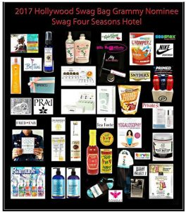 Grammy Weekend Gift Bags Honoring Four Seasons Hotel Nominees and Talent by Hollywood Swag Bag.