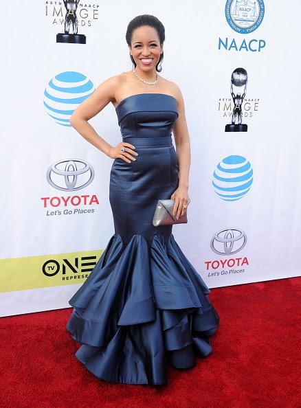 PASADENA, CA - FEBRUARY 11: Actress Dawn-Lyen Gardner arrives at the 48th NAACP Image Awards at Pasadena Civic Auditorium on February 11, 2017 in Pasadena, California.  (Photo by Gregg DeGuire/WireImage)