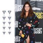 Stunning Hillary Scott wearing Swarovski at the  CMT Music Awards