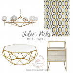 Interior Trend Alert: Geometrics and Gold