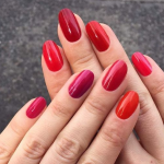 For Valentine's Day there is nothing more festive than a pink or red manicure