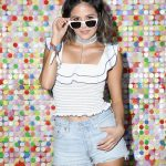 Erin Lim Wears 21HM Chained Denim Choker To Coachella