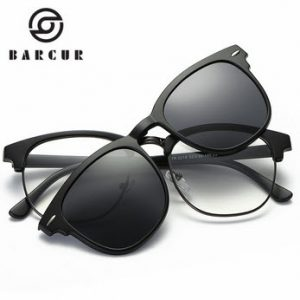 BARCUR TR90 Sunglasses Clip Magnetic Sunglasses Frame With Clip Sun glasses