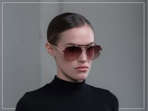 Orian Rose Gold Dynamakis Aviator Sunglasses