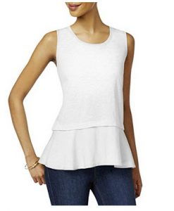Style & Co. Peplum Top at Amazon