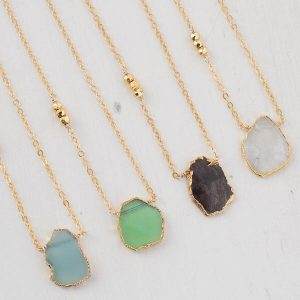 Isabelle Grace Gem Slice Necklaces
