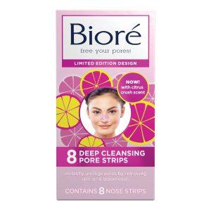 Biore Skincare Citrus Crush Deep Cleansing Pore Strips