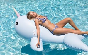 Giant Narwhal KOLOLO inflatable pool toy