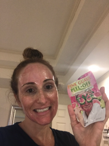 Megan with 7th Heaven Pink Guava Peel Off Mask