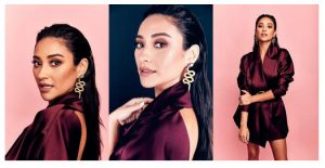 Shay Mitchell's Messy-Chic Slicked Back Look