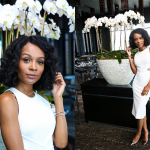 Zuri Hall Wears Miranda Frye jewelry at the Women of Impact All White Honorary Weekend