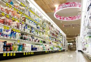 skin care aisle