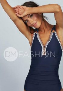 DM Fashion Ruched one piece swimsuit