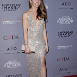 Holly Taylor wears Aidan by Aidan Mattox!